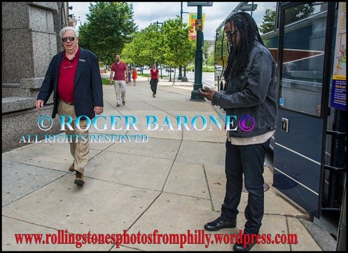 Rolling Stones' backup singer, Bernard Fowler, Four Seasons Hotel Philly, june 23, 2013 © roger barone
