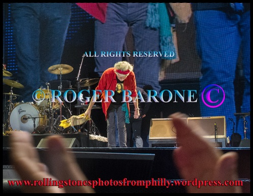 Keith Richards' final bow to Philadelphia, june 21, 2013.  © roger barone