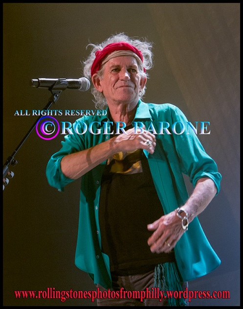 "Keith Richards photo after singing ""Happy"" Wells Fargo Center, Philadelphia, june 21, 2013,© roger barone"