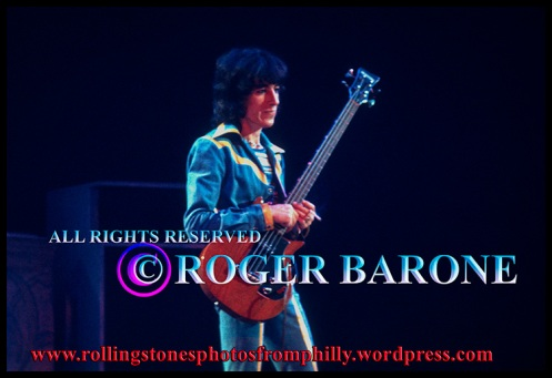 Rolling Stones bass player Bill Wyman Philadephia June 29, 1975 Tour of the Americas, © Roger Barone 2013
