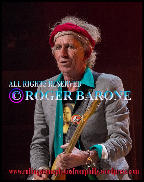 "Keith Richards playing ""Honky Tonk Woman"" at Wells Fargo Center, june 21, 2013, photo© roger barone"
