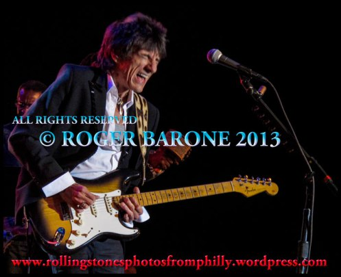 Rolling Stones guitarist Ronnie Wood performing in Atlantic City, April 21, 2012, photo by roger barone