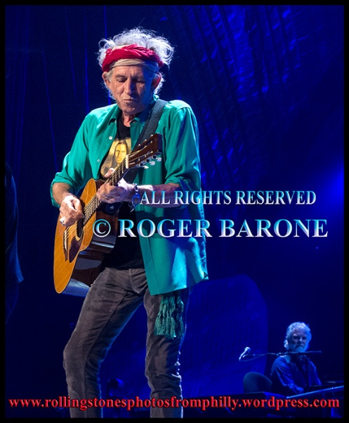 Keith Richards Martin acoustic guitar, june 21, 2013 philly. photo by roger barone