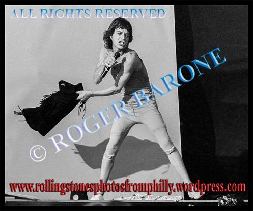 Mick Jagger Rolling Stones JFK Stadium, September 26, 1981. photo by roger barone