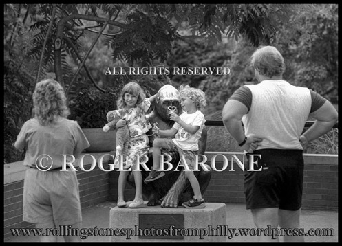 Mick Jagger's children, Elizabeth and Jimmy visiting Philly Zoo. © roger barone 1989