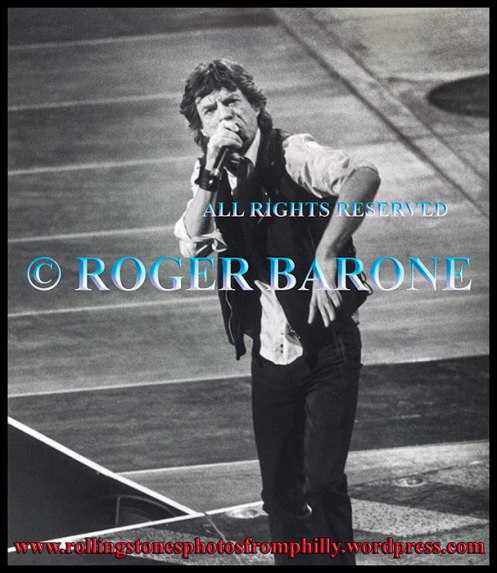 mick jagger performing at First Union Center, March 15, 1999 © roger barone 1999