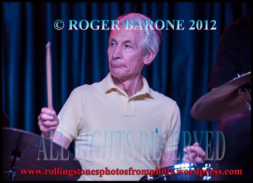 rolling stones drummer charlie watts solo performance iridium club new york. photo by roger barone