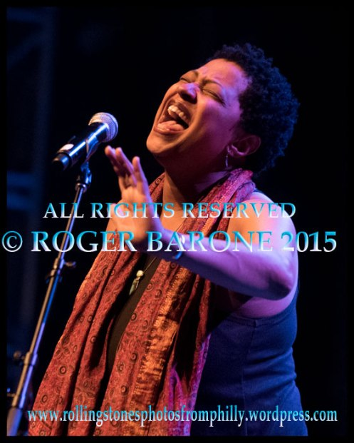 Rolling Stones' backup singer, Lisa Fischer, performing at the Keswick Theater. April 30, 2015 photo: roger barone