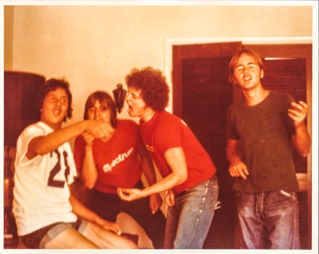 Spectrum employees preparing for Rolling Stones concert at Philly Arena june 30, 1975, photo by donnie barone